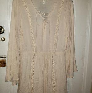 Boho style bell sleeved dress